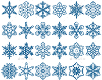 Decorative Snowflakes Vector Shapes + Video Tutorial