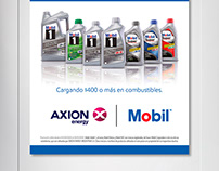 Axion energy + Mobil lubricants -POP material.