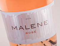 Malene Rosé Wine Package Design