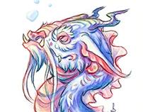 Dream Doodle- Aquarium Dragon