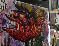 Live Painting - Digable Arts Oct 12th - 13th 2013