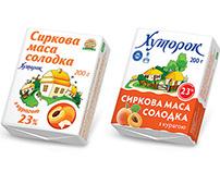 """ТМ """"Хуторок"""" рестайлинг упаковок молочной продукции"""