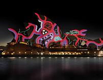 Lighting The Sails Sydney Opera House