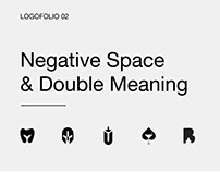 Double meaning & negative space logos