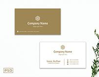 Free Sober Minimalist Business Card Template
