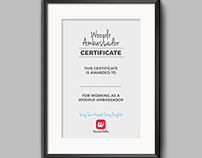 Certificate Design for Internship at Wooplr.