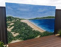 Backyard Beach Scene