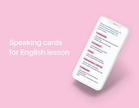 Speaking card for English lesson
