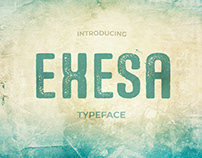 Exesa Distressed Typeface