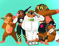 Sticker Design / Astro Monkey