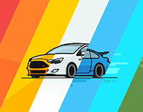 Cars for Dribbble works