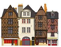 Illustration de la Place Plumereau à Tours France