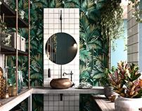 bathrooms in green