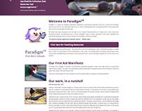 Responsive Website Design, ParadigmYP Campaign