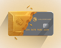 Gold and Silver Banking Card Branding