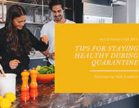 Tips for Staying Healthy During Quarantine