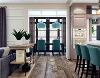 Light classic home interior
