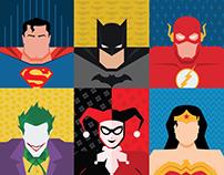 DC Superhero Flat HexaArt