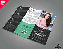 Education Trifold Brochure PSD Template