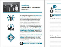 Manager Workbook - 20 Page Booklet for Spaenaur Inc.