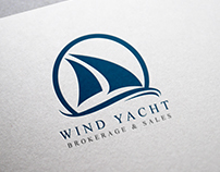 Wind Yacht Logo Template
