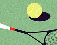 personal illustration: Tennis