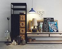 Decorative set. Style loft