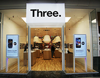 Developing Three's In Store Identity