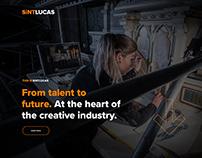 Sintlucas Art school - webdesign & development