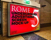 Rome Underground Ad Screen Mock-Ups