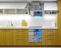 Interior photography of kitchen furniture