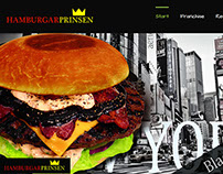 Hamburgerprinsen - Website Template along with FrontEnd