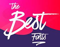Las mejores 100 fuentes para descargar. Free Font