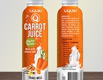 Protein based Carrot Juice label design