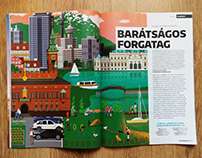 Illustrations for Playboy Hungary