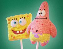 Spongebob marshmallow lollipop