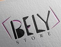 Bely online store logo design