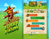 Lucky Fields Game Landing Page