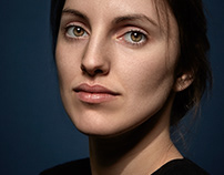 Retouching portrait
