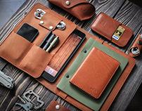 """""""Inside"""", leather workshop."""