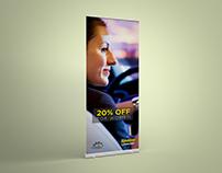 Standee Design for Areesh Auto Spa