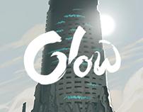 """Mythopoeia's """"Glow"""" cover+logo"""