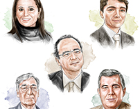 Portraits for cover Business Magazine
