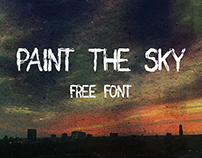 Free Font // Paint the Sky Free Brush Font