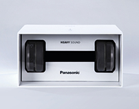 Panasonic - The Dumbbell Headphone Packaging