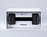 Panasonic - The Dumbbell Headphone Packaging