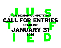 AIGA Justified Call for Entries, 2014