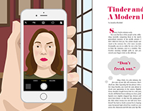 Tinder & Coffee: A Modern Love Story-Book Illustration