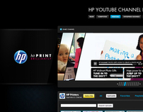 HP social media backgrounds (Twitter, YouTube)