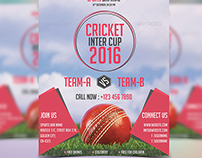 Cricket Tournament Cup Sports Flyer Template